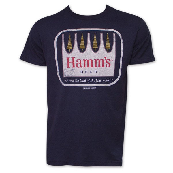 Hamm's Blue Waters TShirt - Navy Blue