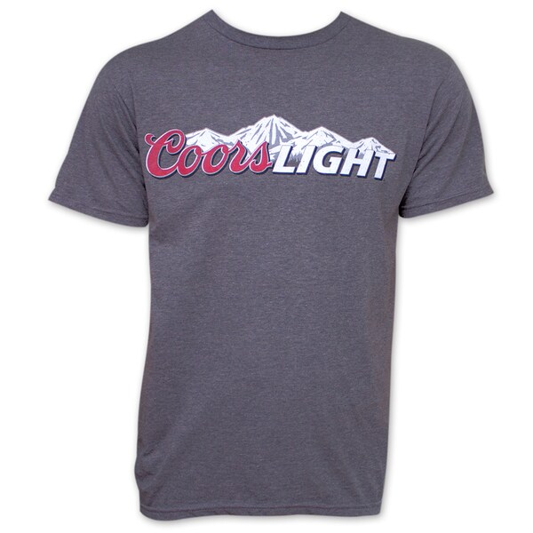 Coors Light Beer Logo Tee Shirt - Heather Gray