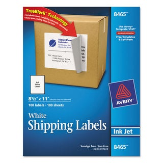 Avery Shipping Labels w/Ultrahold Ad & TrueBlock (Box of 100)