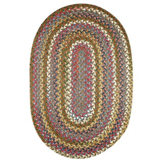 Charisma Indoor/Outdoor Oval Braided Rug by Rhody Rug (7' x 9')