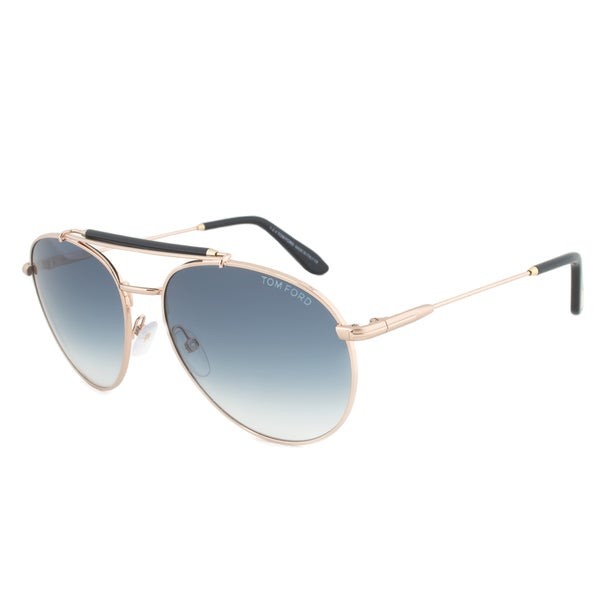 Tom Ford Colin FT0338-28W Rose Gold and Black Aviator Sunglasses