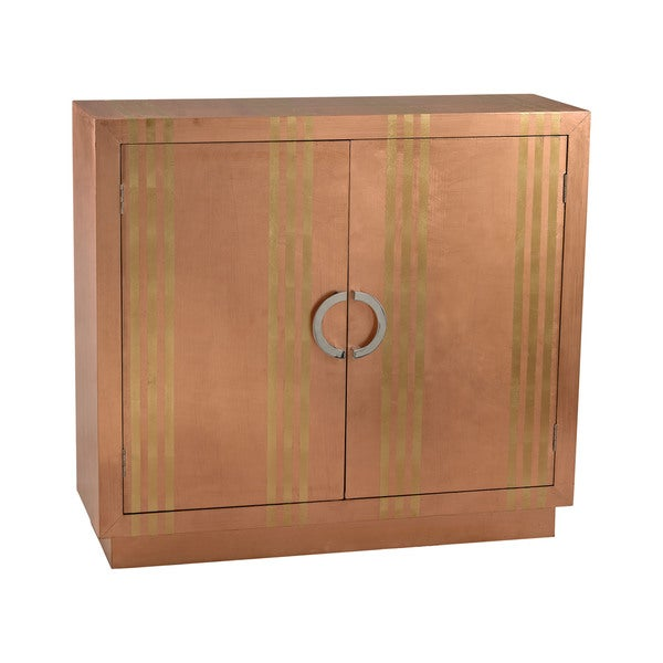 LS Dimond Home Gold Stripe Copper Cabinet
