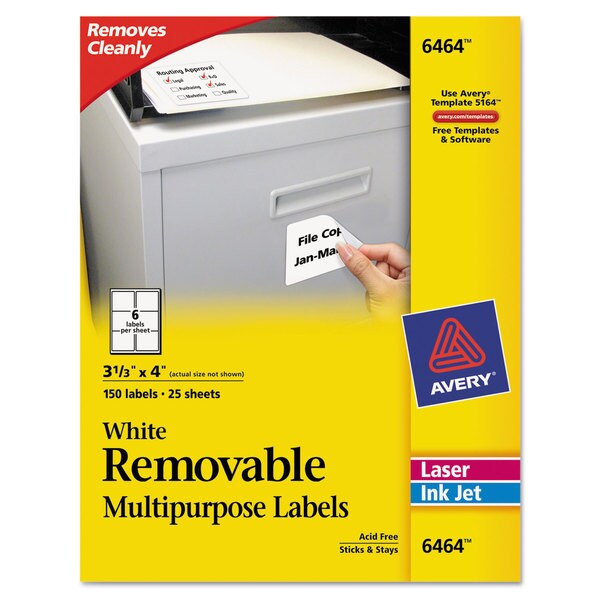 Avery White Removable Multi-Use Labels (Pack of 150)