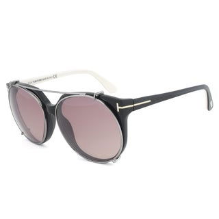 Tom Ford Agatha FT0370-05A Black Oval Sunglasses
