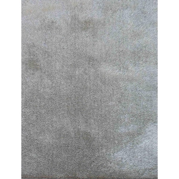 Hand-Woven Shag Aqua/Aqua Polyester (5x7.6) Area Rug