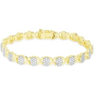 Finesque 1/4 ct TDW Diamond XO Bracelet