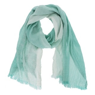 Crinkled Stripe Long Scarf