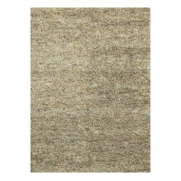 Hand-Woven Contemporary Fog/Fog Wool (5x8) Area Rug