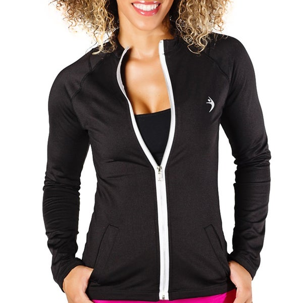 MissFit Activewear Women's Black Zip Athletic Jacket 15999224