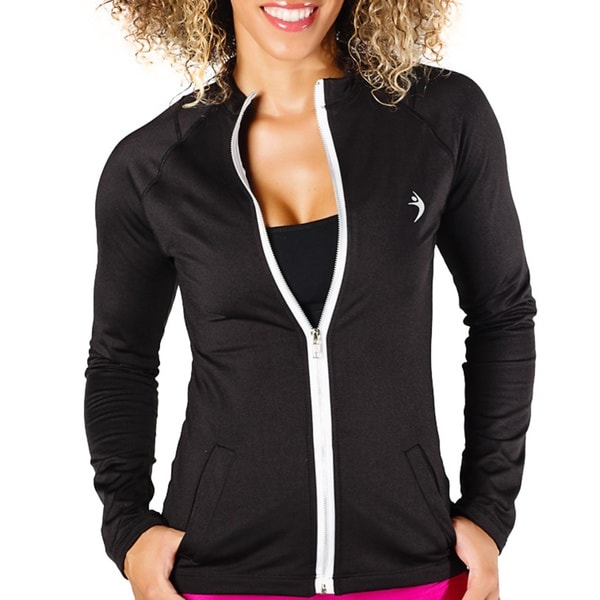 MissFit Activewear Women's Black Zip Athletic Jacket