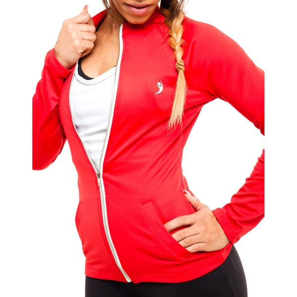 MissFit Activewear Women's Red Athletic Jacket 15999260