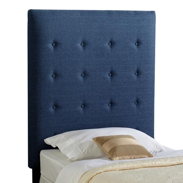 Humble + Haute Prescott Twin Size Navy Blue Upholstered Headboard