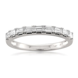 Montebello 14k White Gold 1/2ct TDW Baguette-cut White Diamond Wedding Band (G-H, VS1-VS2)