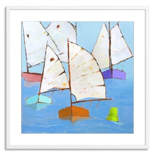 Gallery Direct Phyllis Adams 'Boats Abound' Paper Framed