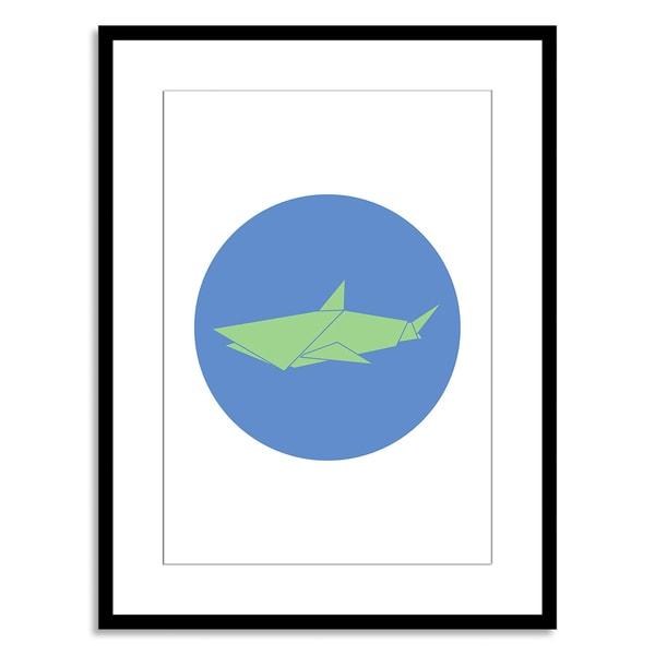New Era Originals 'Animal Origami, Shark' Paper Framed