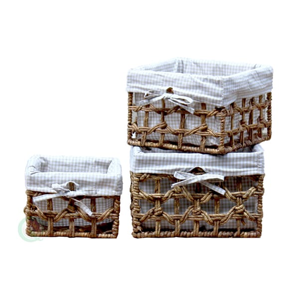 Maize Lined Storage Baskets (Set of 3)
