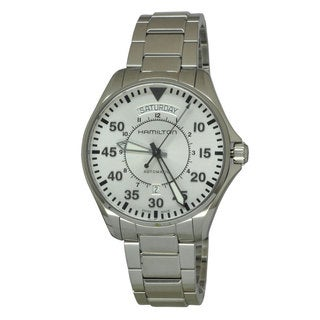 Hamilton Men's H64615155 Pilot Day Date White Watch