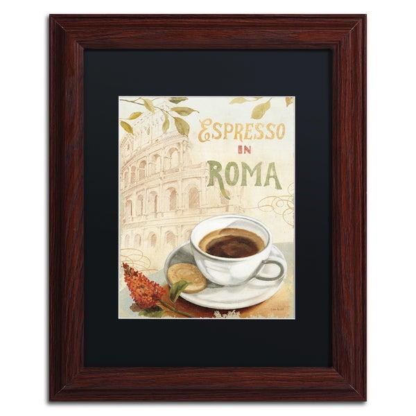 Lisa Audit 'Cafe in Europe III' Black Matte, Wood Framed Wall Art 15999793