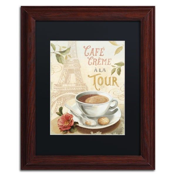 Lisa Audit 'Cafe in Europe II' Black Matte, Wood Framed Wall Art 15999795