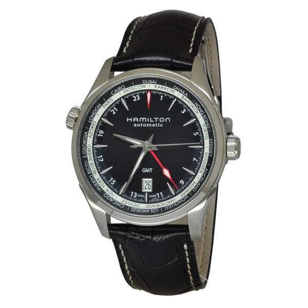 Hamilton Men's H32695731 Jazzmaster GMT Auto Black Watch