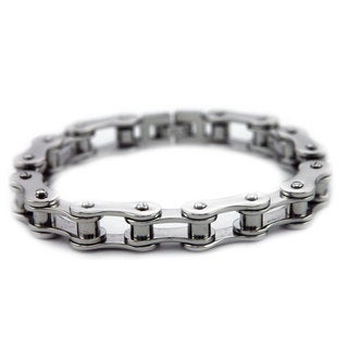 James Cavolini Stainless Steel Bike Chain Link Men's Bracelet