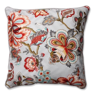 Pillow Perfect Bespoke Blossoms Mineral / Oxford Charcoal 18-inch Throw Pillow