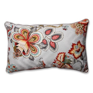 Pillow Perfect Bespoke Blossoms Mineral / Oxford Charcoal Rectangular Throw Pillow