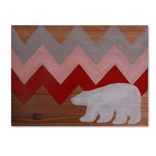 Nicole Dietz 'Polar Bear Red' Canvas Art