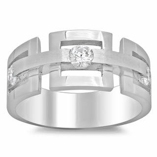 14k White Gold Men's 3/4ct TDW Diamond Ring (G-H, SI2)