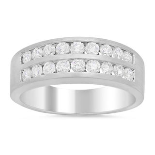 14k White Gold Men's 1 1/4ct TDW Diamond Ring (F-G, SI1)