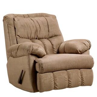Sensation Camel Microfiber Rocker Recliner Living Room Chair