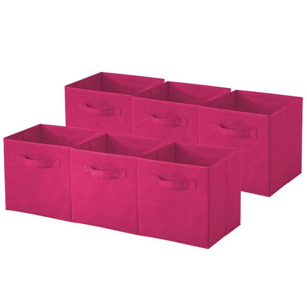 Pink Collapsible Storage Cube (Pack of 6)