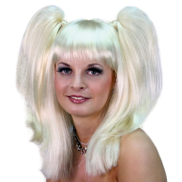 Platinum Blonde Top Pigtails Wig