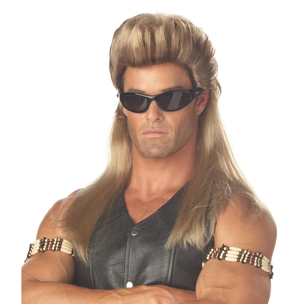 Tall Blonde Mullet Wig 16000890
