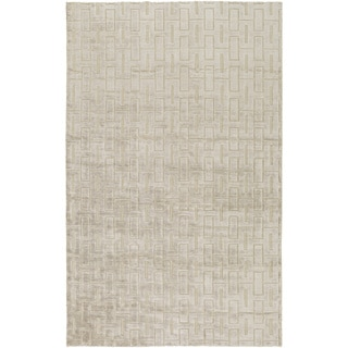 Hand-Knotted Emanuel Solid Viscose Rug (8' x 11')