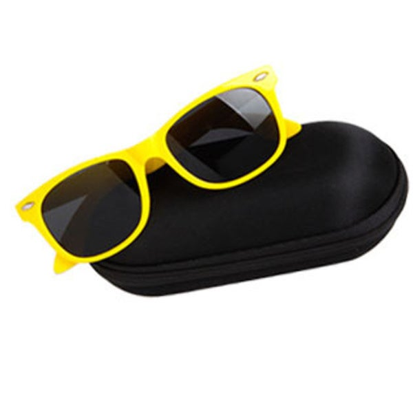 Soft Black Zipper Nylon Sunglasses Case
