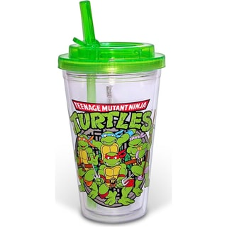 Teenage Mutant Ninja Turtles Group Sewer Flip Straw Acrylic Travel Cup