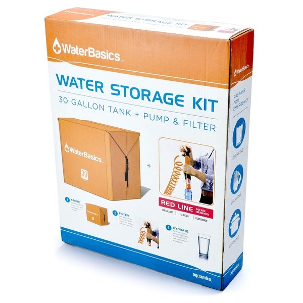 WaterBasics Emergency Water storage Kit with Filter 30gal