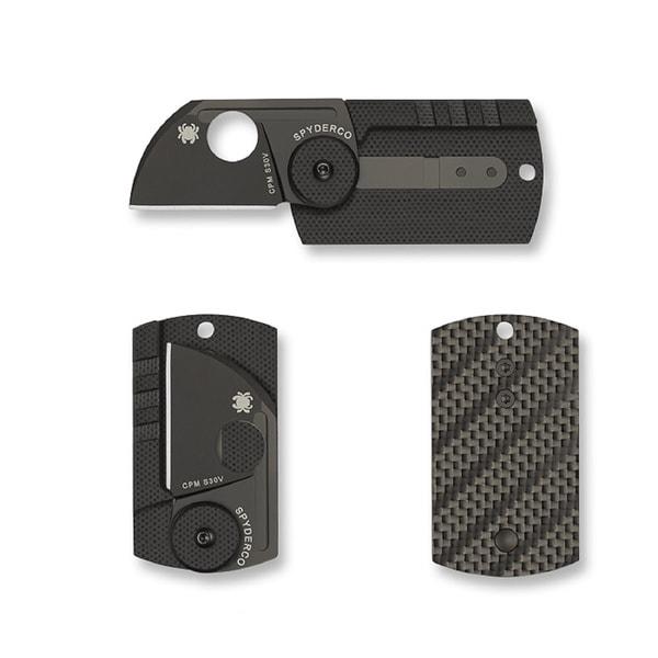 Spyderco Dog Tag Plain Edge Folder with 1.23-inch Blade