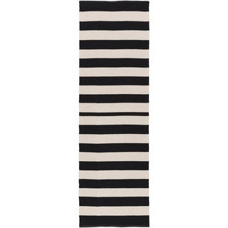 Hand-Woven Stacy Stripe Cotton Rug (2'6 x 8')