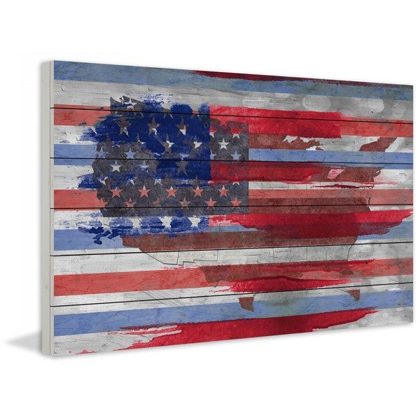 "Parvez Taj - ""United States"" Print on White Wood"