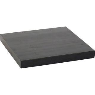 10-inch Solid Wood Black Wood Grain Finish Floating Wall Shelf