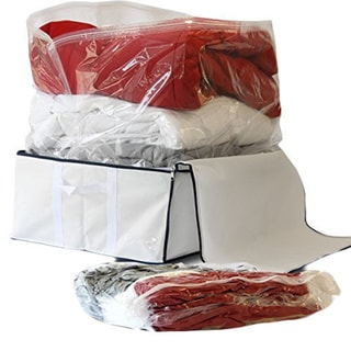 3-piece Medium Vacuum Storage Bag with Jumbo Storage Box Tote