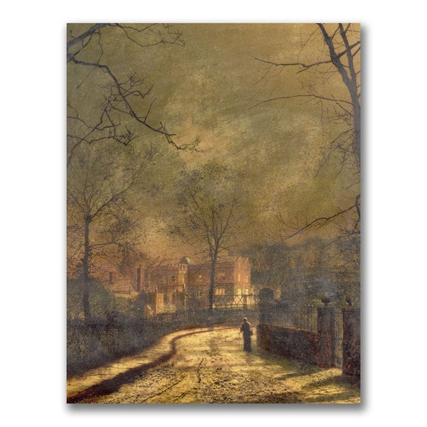 John Atkinson 'Autumn Scene 1874' Canvas Art