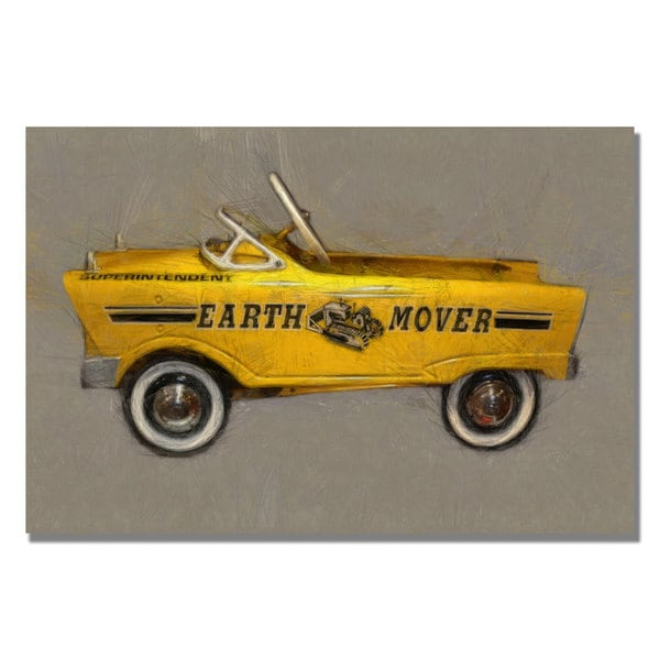 Michelle Calkins 'Earth Mover Pedal Car' Canvas Art