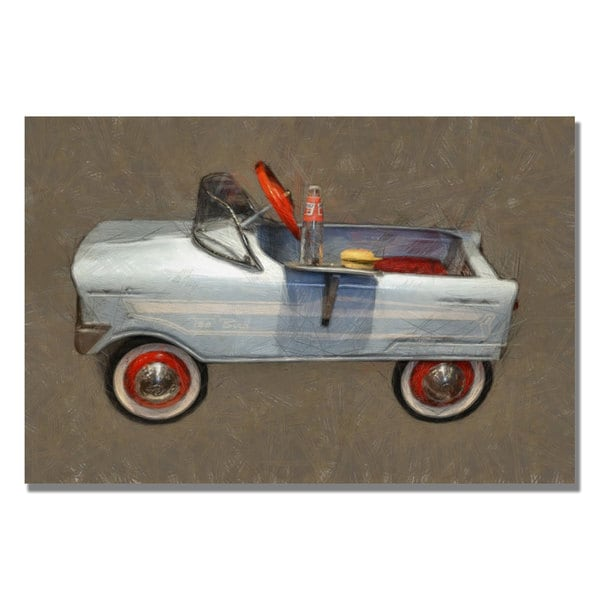 Michelle Calkins 'Tee Bird Pedal Car' Canvas Art
