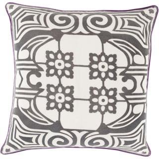 Florence de Dampierre: Decorative Allyson Floral 22-inch Throw Pillow