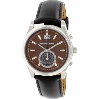 Michael Kors Men's MK8415 Brown Leather Swiss Quartz Watch