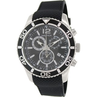 Nautica Men's Nst 09 N15102G Black Rubber Swiss Chronograph Watch