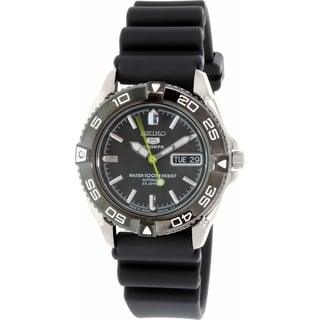 Seiko Men's SNZB23J2 Black Rubber Automatic Watch